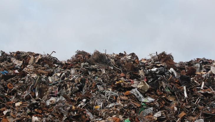 Mountain of waste