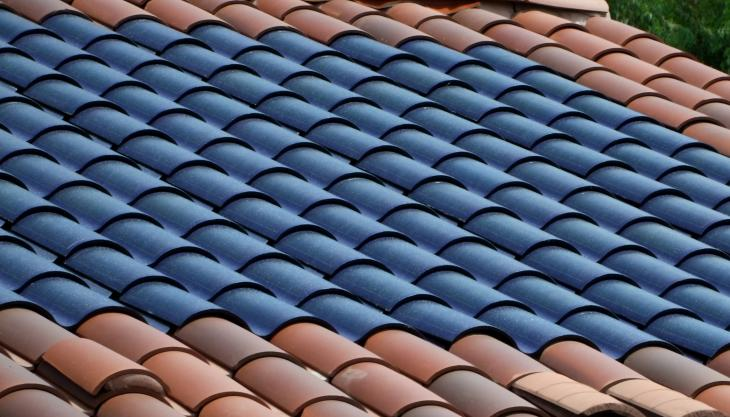 flexible solar PV on roof tiles