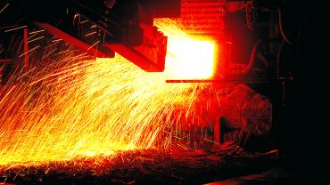 Electric arc furnace for steel production