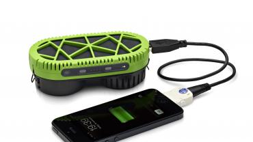 PowerTrekk portable mobile phone charger uses salt and water
