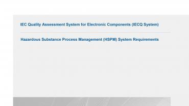 IECQ QC 80000 cover