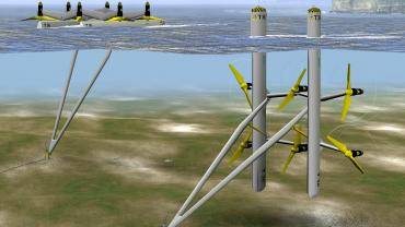 Triton platform tidal energy device (Photo: TidalStream)