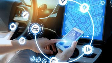 Inside autonomous car