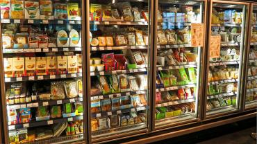 Image of a refrigerator in a store