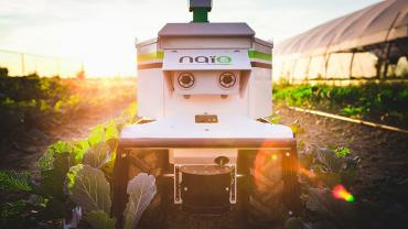 The Oz weeding robot by Naïo Technologies