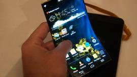 Flexible OLED screen for smartphone