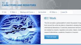 IEC TC 40 website homepage