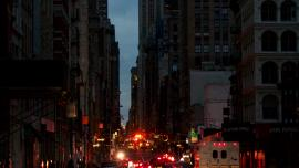 NYC power outage in the aftermath of hurricane Sandy