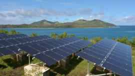 Solar PV modules on Fiji