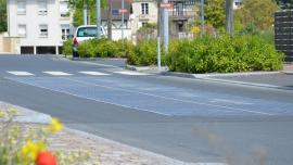 Example of a road with solar modules developed by Wattaway