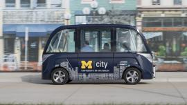 Autonomous shuttle bus future transport