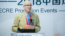 Sandy Butterfield, Chair, IECRE at China Wind Power 2018 event