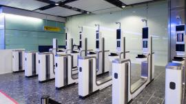 Electronic gates Heathrow Airport