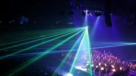laser at concert