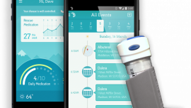 Smart inhaler tracks last time and place medication is taken