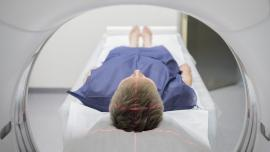 Image of a person entering a CT scan