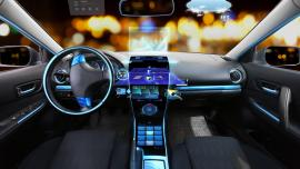 Car dashboard with navigation system