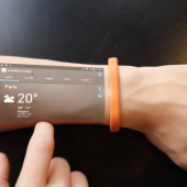 Wearable display on the arm
