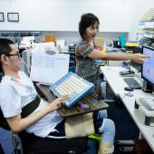 Assistive technology for disabled people