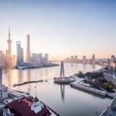 Shanghai river cityscape
