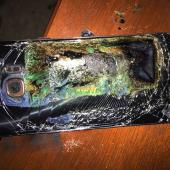 smartphone after battery explosion