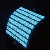 Flexible blue OLED panel (Photo: GE Lighting)