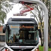 Siemens charging hybrid bus