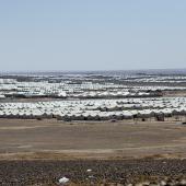 asraq refugee camp in the Jordanian desert