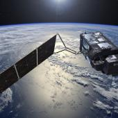 Sentinel-3A Ocean monitoring and remote sensing satellite