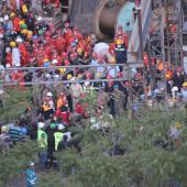 Rescue efforts at Soma mine in Turkey 2014