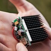 Thermal energy harvesting powered wireless sensor
