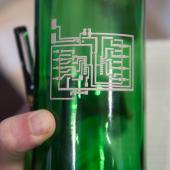 Printed electronics are being developed for any 3D surface, such as a bottle (Photo: printedelectronics.com)