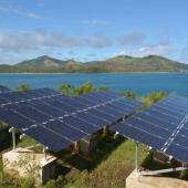 Solar PV modules on Fiji
