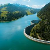 The Hongrin dam, Switzerland