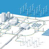 smart grid infographics