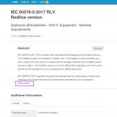 Publication information in IEC Webstore