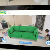 Ikea furniture imagined in your living room using a smartphone