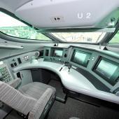 Shinkansen driver cabin