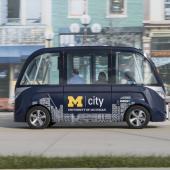 Autonomous shuttle bus future transport