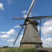 Windmills were used originally to mill grain and pump water