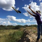 research drone flown in Namibia