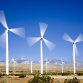 On-land wind turbines