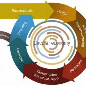 A conceptual diagram illustrating the circular economy
