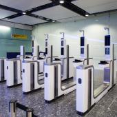 Electronic gates Heathrow Airport