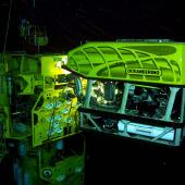 ROV working on a sub sea structure