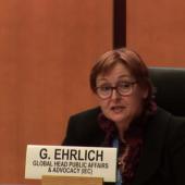 Gabriela Ehrlich at UN ceremony Gender Responsive Standards