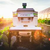 The Oz weeding robot by Naïo Technologies