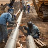 welding work on pipeline