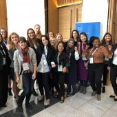 Group picture of women participating in the 2018 YP workshop