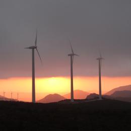 Wind farm in Navarra, Spain